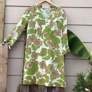 🌺Boden Linen Tunic Dress 🦈🌺🌴🏄🏽♀️